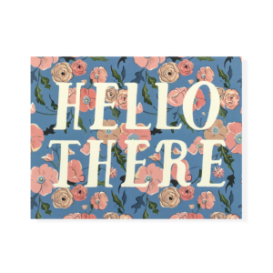 Hello There Floral Card